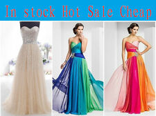 Elegant Evening Party Ball Prom Gown Formal Bridesmaid Cocktail Long Dress 6-18