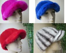Free Shipping /Women's best real handmade Mink fur cap /hat 4COLOR