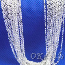 Wholesale Lots Silver Plated Shaped O Chain Necklace Pendant 18 inch HOT