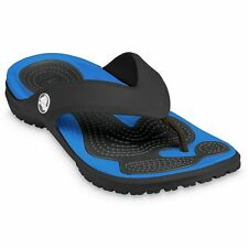 "CROCS Men's Modi Flip-Flops ""Black Varsity Blue"" Size 10, 13"