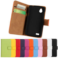 Genuine Leather Wallet Stand Flip Card Case Cover For HTC Desire X V T328W T328e
