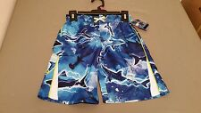 New Joe Boxer Boys Fish Print Swim Trunks Swim Suit Bathing Suit