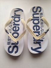 Men's Superdry White Flip Flops - Large Will Fit Size 10