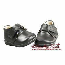 NEW Baby Boys Kids Christening/Party Leather Shoes Size 3-8.5 in White and Black