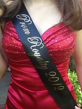 Adult Sz Birthday Homecoming Prom Pageant Sash SCRIPT (choose your wording)