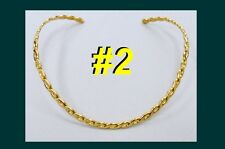 CHOKER Necklace Pendant Collar Gold Silver Plated Rope Pendant Trendy Jewelry