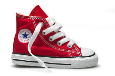 Converse Chuck Taylor Hi Top Red White Infant Toddler Boy Girl Shoes Size 2-10