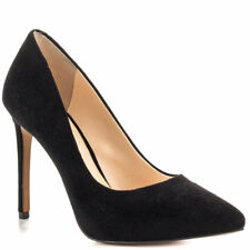 JESSICA SIMPSON PREMER BLACK SUEDE POINTED MID HEEL CLASSIC PUMP MSRP $89 H52