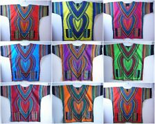 Dashiki Mens Shirt African Hippie Vintage Boho Tribal Womens Blouse Top One Size