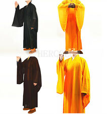 Shaolin Monk Kung fu Buddhist Robe Meditation Long Gown Suit