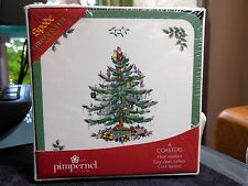 BRAND NEW Sealed SPODE CHRISTMAS TREE Coasters by Pimpernel Set of 6 NIB NIP