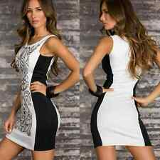 Elegant Women Sexy Sleeveless Bodycon Party Cocktail Mini Pencil Short Dress A33