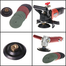 "4 Inch Wet Variable Speed Polisher 4"" Diamond Polishing 9 Pad Granite Concrete"