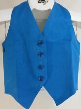 Reed Hill Saddleseat Vest Childs Turquoise Blue Poly / Blend