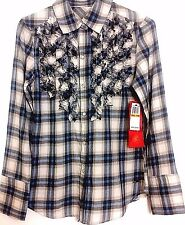 NWT 7 for All Mankind Plaid Shirt  All Cotton $6.99 PS PM  or Junior Size