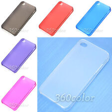0.5mm Ultra Thin Matte Frosted Transparent Hard Case Cover For iPhone 4 4GS 4S