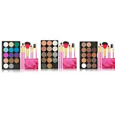 15 Colors Shining Eyeshadow Palette + 7PCS Rose Makeup Brushes set OL7W