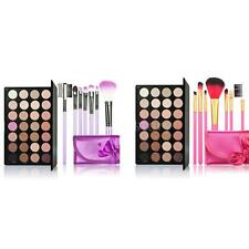 28 Colors Eyeshadow Palette + 7PCS Rose Makeup Brushes set OL8Y