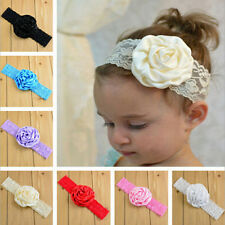 2Pcs Kid Baby Girl Lace Rose Flower Headband Hair Band Headwear Accessories TOP