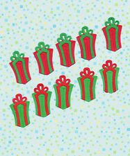 Quickutz Tall Christmas Gift Packages Die Cut Embellishments, Different Sets