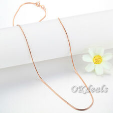 """18"""" HOT Wholesale Women Silver Rose Gold Plated Snake Necklace Chain Jewelry"""