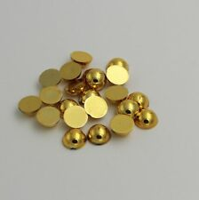 100pcs Half Pearl Round Bead Flat Back 6mm Scrapbook for Craft FlatBack gold