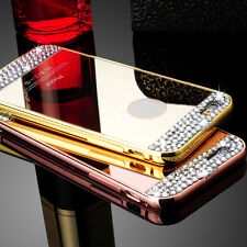 New Glitter Bling Crystal Diamond Mirror Metal Case Cover For iPhone 5 5S 6 Plus