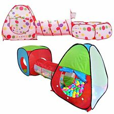 Kids Pop Up Tent Play House Tunnel Indoor Outdoor Portable Folding Playhut NEW
