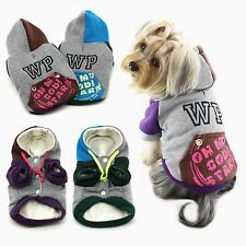 WONPET Hooded Dog Sweatshirts Mix Color Pet Casual Style Puppy Clothes Jacket