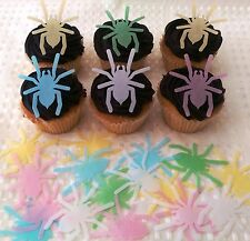 40 Edible Spider Spiderman Halloween Spooky Party Cupcake Topper Cake Decoration