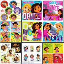 Dora the Explorer Stickers - You Choose - Birthday Party Supplies - Dora Tattoos