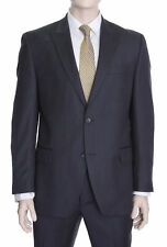 Alfani RED Slim Fit Gray Pinstriped Two Button Wool Suit With Peak Lapels