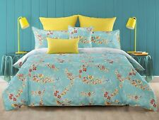 Bianca Akasha 3 or 5 Pce King Size Quilt / Doona Cover Set  Blue Floral NEW SALE