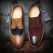 Mens Dress shoes Brogues Retro Casual wingtip Oxfords Business Formal Shoes size