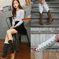 Fashion Sweeet Knitting Stockings Boot Cover Lace Trim Legging Socks Brand New