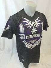 AMERICAN FIGHTER By AFFLICTION Mens T Shirt S M L XL 2XL 3XL AUGUSTA FM1714 Gray