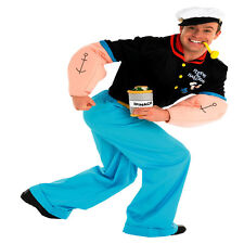 ADULT MENS ADULT POPEYE SAILOR HALLOWEEN FANCY DRESS COSTUME- MEDIUM, - 2 SIZES