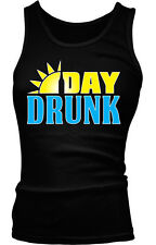 Day Drunk Funny Humor Drinking Sunday Shenanigans Boy Beater Tank Top