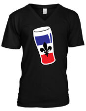 France French Flag Beer Glass Française Pride Fleur-de-lis Mens V-neck T-shirt