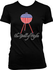 The Grill Of Rights America Patriotic Pride USA Flag Juniors T-shirt