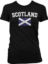 Scotland Country Flag Scottish Scot Pride Football Soccer Juniors T-shirt