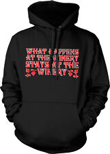 What Happens At The Winery Stays At The Winery Funny Vino Humor Hoodie Pullover