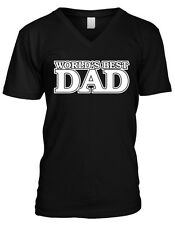 Worlds Best Dad Daddy Fathers Day Gift Present Idea Pops Mens V-neck T-shirt