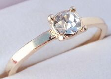 14K GOLD EP .50CT DIAMOND SIMULATED SOLITAIRE RING size 6-8 u choose