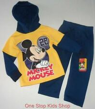 MICKEY MOUSE Toddler Boys 2T 3T 4T Set OUTFIT Shirt Hoodie Top Pants DISNEY