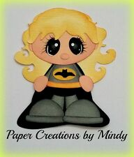 Craftecafe Mindy Batman Girl premade paper piecing for scrapbook page album