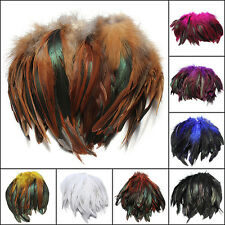 100pcs Fluffy Fashion Rooster Feather Fringe Decoration Home Craft DIY 6-8'' US
