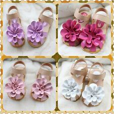 I58 Princess Spring Flowers Baby Girls Baby Toddler Sandals Flat Kids Shoes US