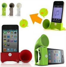 E044 Fashion Colorful Silicone Portable Amplifier Speaker Horn For iPhone 4G/5G