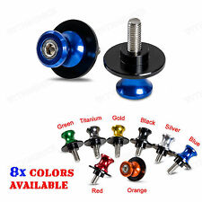 Motorcycle 6mm Swing Arm Sliders Spools For Yamaha R1 R6 FZ1 FZ6 FAZER FZ6R MT01